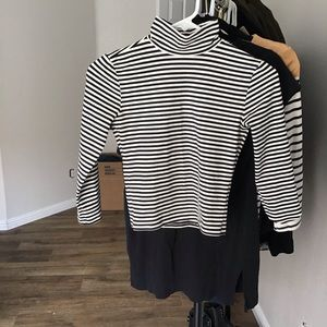 Striped turtleneck shirt